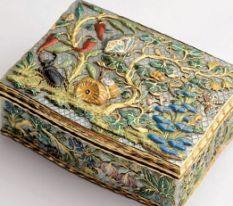 An embellished snuff box from the exhibition