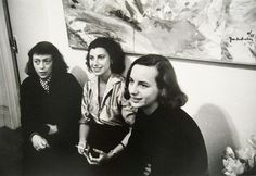 Joan Mitchell, Helen Frankenthaler, and Grace Hartigan. Female abstract expressionist painters.