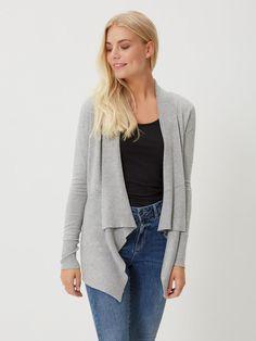 PITKÄHIHAINEN NEULETAKKI, Light Grey Melange, large Grey, Sweaters, Fashion, Gray, Moda, Fashion Styles, Fasion, Sweater