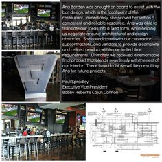 Cajon Cannon Restaurant bar design is one of the latest projects by my firm Schematic Design, Architectural Services, Restaurant Bar, Cannon, Architecture, Projects, Log Projects, Canon, Architecture Illustrations