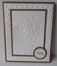 stampin up wedding cards | Stampin Up handmade greeting card wedding card Mr and Mrs embossed PY