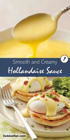 This is an easy hollandaise sauce recipe that is perfect over eggs benedict and poached fish as well many grilled or roasted vegetables. This perfect hollandaise recipe results in a rich, buttery, lemony, and so delicious sauce! Eggs Benedict Sauce, Easy Eggs Benedict, Recipe For Eggs Benedict, Eggs Benedict Casserole, Molho Hollandaise, Recipe For Hollandaise Sauce, Brunch Recipes, Breakfast Recipes, Recipes For Eggs