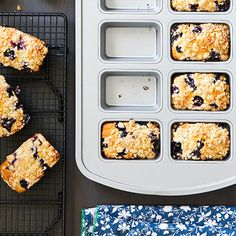 These are great for prepping ahead and freeze really nicely! Make these beautifully simple Mini Blueberry Streusel Loaves for your next brunch or weekend breakfast. Mini Loaf Cakes, Mini Bread Loaves, Mini Loaf Pan, Bundt Cakes, Loaf Recipes, Brunch Recipes, Cooking Recipes, Dessert Recipes, Breakfast Recipes