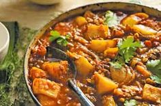 Moroccan red lentil and lamb stew - a mix of exotic spices gives this stew its authentic Moroccan flavour.