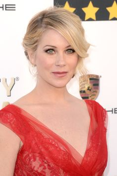 Christina Applegate at the Critics' Choice Awards 2014 - Let your eyes be the focus of your big day look. Do like Christina Applegate and use lashings of black mascara, a romantic up-do and pale pink lipstick to keep it elegant but pretty.