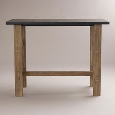 brooklyn work table from world market. just love this as a workspace.