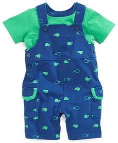 First Impressions Baby Boys' Tee & Shortall Set - Kids Baby Boy months) - Macy's Baby Outfits, Cute Outfits For Kids, Newborn Outfits, Baby Boy Fashion, Toddler Fashion, Kids Fashion, Jumper Bebe, Carters Baby Boys, Baby Kids Clothes