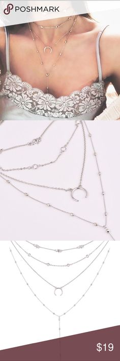 HeyGirl Bohemian Long Sweater Chunky Chain Length Necklace Retro Wild Accessories Crystal Pendant