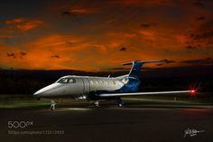 Embraer Phenom 300 - light painting by jhartman