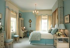 light blue bedroom decorating ideas | French style bedroom in light blue ~ Home Decorating Ideas