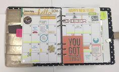 Carpe Diem Planner January Month Spread - Scrapbook.com