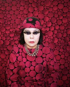 Yayoi Kusama, the famed 82-year-old Japanese female artist who has had a lifelong obsession with polka dots.