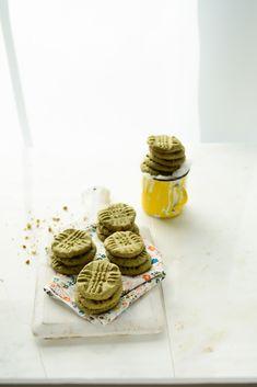 Almond and Matcha Green Tea Cookies  GF Option by Replacing Regular Flour for GF Flour