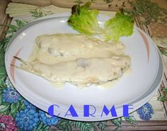 Filetes de lenguado con crema de roquefort