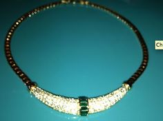 Christain Dior green and gold coloured necklace  http://www.ebay.co.uk/itm/Christain-Dior-green-and-gold-coloured-necklace-/380697709244?pt=UK_JewelleryWatches_WomensJewellery_Rings_SR=item58a35a0abc