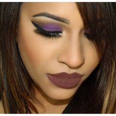 """Purple Smokes! Gorgeous Glam by @makeupbysafia using our """"Culprit"""" Lashes. #BeautyConvict #culpritlashes"""