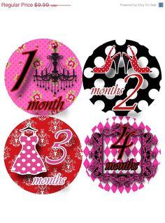 Monthly onesie stickers