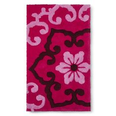 "Boho Boutique� Taj Bath Rug - Pink (20X34"")"