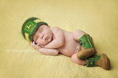Crochet Baby John Deere Hat Newborn up to toddler Photo Prop Tractor Farmer boy or girl SALE on Etsy, $20.00