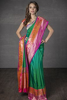 Love the Handloom Saree from BenzerWorld!