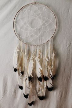 Indie Dreamcatcher: Large White Hipster wall decor