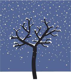 """""""L'arbre et l'hiver"""", album (extrait) de Melissa Pigois, illustratrice."""