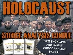 This is a 40+ page bundle of 3 separate source analysis packs related to the Holocaust.  This bundle will help your students analyze stories and primary sources in a historical context and will develop their understanding of the Holocaust in relation to the major events of the event. The bundle contains, one story, 10 sources (visual and text), questions (comprehension and analysis), several assignments, teachers keys and rubrics!