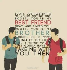 Teen wolf Scott and Stiles BROTHERS
