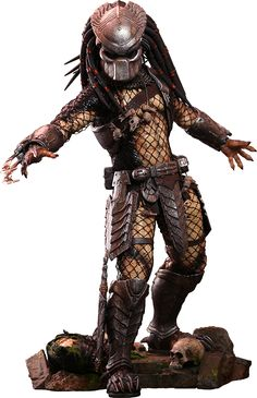 Hot Toys Ancient Predator Sixth Scale Figure Predator Movie, Predator Alien, Aliens And Ufos, Ancient Aliens, Predator Figure, Predator Cosplay, Marvel Games, Funny Horror, Horror Monsters