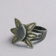 Vintage stamped ring with six pointed star