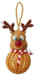 Winston the Reindeer Beaded Bauble Ornament Bead Pattern By ThreadABead