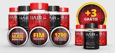 HairCaps, um produto 100% natural que acaba com a queda de seus cabelos sem nenhum efeito colateral.