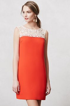 Color block dress. Not my color, but I like the look. With a longer skirt, looks like a pattern from the 60's I have.