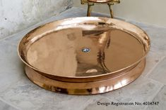 Rotunda - Copper Shower Tray with Polished Nickel Interior - Copper Nickel, Polished Nickel, Brass, Bathroom Inspiration, Interior Inspiration, Bathroom Ideas, How To Polish Copper, Amish Furniture, Bathroom Toilets
