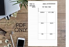 Daily 1 A5/Half Letter Size Printable Insert for Personal Use
