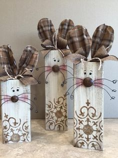 2x4 Crafts, Bunny Crafts, Easter Crafts, Spring Crafts, Holiday Crafts, Hoppy Easter, Easter Bunny, Easter Religious, Easter Projects