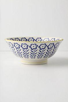 Atom Art Serving Bowl, Blue #anthropologie