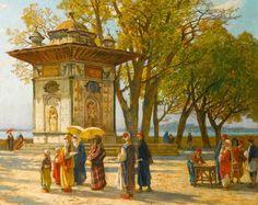 A trip to Küçüksu, along the Bosphorus.  Late-Ottoman era, end of 19th century.