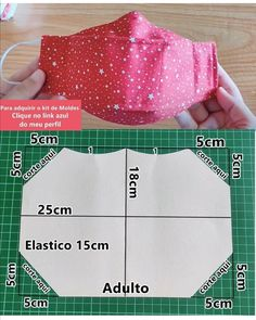 Small Sewing Projects, Sewing Hacks, Sewing Tutorials, Sewing Crafts, Bag Pattern Free, Sewing Patterns Free, Easy Face Masks, Diy Face Mask, Mascara 3d