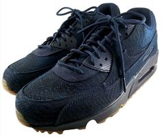 on sale 13fc9 4bc34 NIKE AIR MAX 90 Premium SHOES Men s Size 12 Jacquard Obsidian Blue Low Tops   NIKE