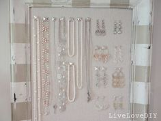 DIY Cork Board Jewelry Organizer | Live Love DIY
