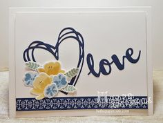 Jar of Love stamps from Stampin' Up! with Sunshine Sayings dies Beth's Paper Cuts