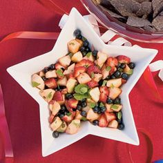 Red, White and Blueberry Fruit Salad
