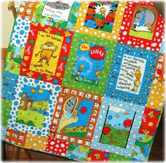The Lorax Baby Quilt Dr Seuss Bright Fun by CarleneWestberg, $142.00