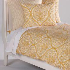 Danika Printed Duvet Cover Saffron - Ethan Allen US