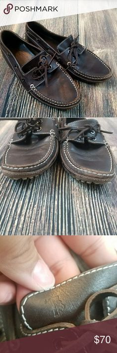 TODS loafers Beautiful brown leather pre owned Tods with some wear . Not very noticeable wear do to it being and in the bottom.  Missing two studs . BUNDLE to receive a better deal  Fast shipping!! Tod's Shoes Loafers & Slip-Ons
