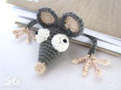 crochet bookmarks Amigurumi rats
