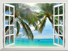 "Wall26 - High Quality Removable Wall Sticker / Wall Mural - Beautiful Sunny Beach on a Tropical Island with Palm Trees | Creative Window View Home Decor / Wall Decor - 36""x48"" wall26 http://www.amazon.com/dp/B00XH8FIQS/ref=cm_sw_r_pi_dp_g2uPvb1Z4TRV3"