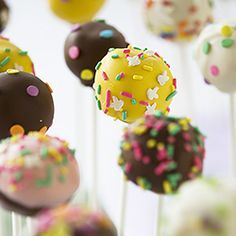 #122976 - Spring Cake Pops By TasteSpotting -- see more at LuxeFinds.com