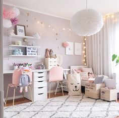 Girls Room Decor Ideas to Change The Feel of The Room Do you want to decorate a woman's room in your house? Here are 34 girls room decor ideas for you. Tags: girls room decor, cool room decor for girls, teenage girl bedroom, little girl room ideas Cool Room Decor, Bedroom Decor, Light Bedroom, Bedroom Lighting, Girls Room Wall Decor, Bedroom Furniture, Girls Room Paint, Girl Decor, Master Bedroom
